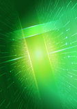 абстрактная технология зеленого цвета предпосылки Иллюстрация вектора