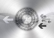 абстрактная технология круга предпосылки Стоковая Фотография RF