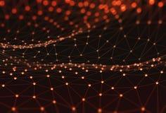 Абстрактная технология науки предпосылки стоковое изображение