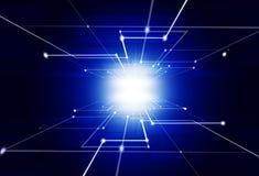 абстрактная технология сини предпосылки Стоковое Изображение