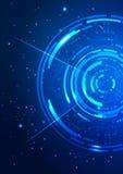 абстрактная технология сини предпосылки Стоковое Изображение RF