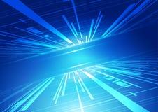 абстрактная технология сини предпосылки Иллюстрация вектора