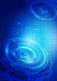 абстрактная технология сини предпосылки Стоковые Фото