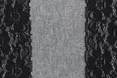 Абстрактная ткань украшенная с шнурком Стоковое фото RF