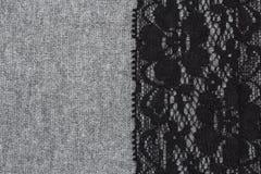 Абстрактная ткань украшенная с шнурком Стоковые Фотографии RF