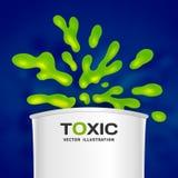 Абстрактная токсическая предпосылка выплеска цвета вектора иллюстрация штока