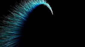 Абстрактная трассировка цвета на черноте сток-видео