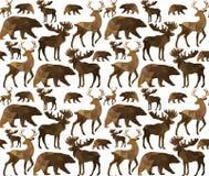 Абстрактная триангулярная животная безшовная картина Стоковые Фотографии RF