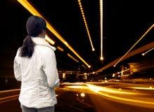 абстрактная улица девушки стоковые фотографии rf