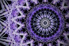 Абстрактная ультрафиолетов предпосылка, мандала fl влияния калейдоскопа Стоковые Фотографии RF