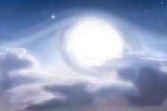 Абстрактная луна Стоковое Изображение RF