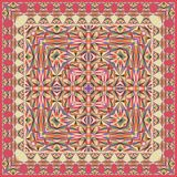 Абстрактная уникально геометрическая шаль, шарф, картина neckerchief Стоковые Изображения