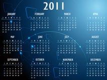 абстрактная фантазия календара 2011 Стоковое Изображение RF