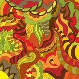 Абстрактная фантазия рисуя красочную предпосылку вектора искусства Стоковое Фото