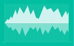 Абстрактная финансовая диаграмма с линией диаграммой и номерами тенденции к повышению в фондовой бирже иллюстрация вектора