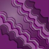 Абстрактная фиолетовая предпосылка с волнистым бумажным влиянием выреза 3D бесплатная иллюстрация