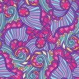 Абстрактная фиолетовая волнистая картина Стоковые Изображения