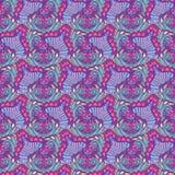 Абстрактная фиолетовая волнистая картина Стоковое фото RF
