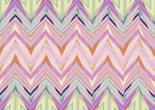 Абстрактная фиолетовая розовая зеленая картина зигзага Стоковое фото RF