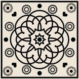 абстрактная флористическая икона Стоковое Фото