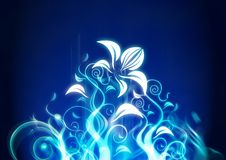 абстрактная флористическая иллюстрация Стоковое Изображение RF