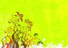 абстрактная флористическая иллюстрация Стоковое Изображение