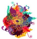 абстрактная флористическая картина Стоковое Фото