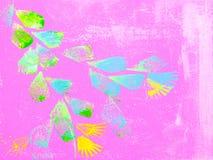 Абстрактная флористическая красочная текстурированная предпосылка покрашенная рукой Стоковые Фотографии RF