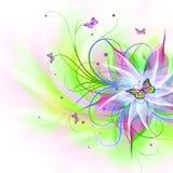Абстрактная флористическая предпосылка Стоковые Фотографии RF