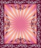 абстрактная флористическая рамка Стоковое Изображение