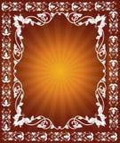 абстрактная флористическая рамка Стоковая Фотография