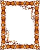 абстрактная флористическая рамка Стоковая Фотография RF