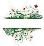 абстрактная флористическая рамка Стоковые Фото