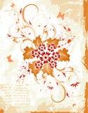 абстрактная флористическая рамка Стоковое Фото