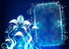 абстрактная флористическая рамка Стоковые Фотографии RF