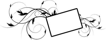 абстрактная флористическая рамка Стоковые Изображения RF