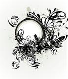абстрактная флористическая рогулька Стоковые Фотографии RF