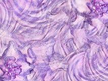 Абстрактная флористическая розов-фиолетовая предпосылка Лепестки цветков на розов-бел-фиолетовой предпосылке Спиральн линии Стоковая Фотография