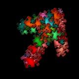 абстрактная форма головоломки черноты предпосылки Стоковое Изображение