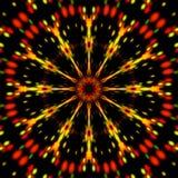 Абстрактная форма и черная предпосылка Стоковое Изображение