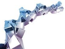 абстрактная форма кубика предпосылки Стоковая Фотография RF