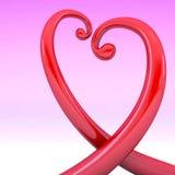 Абстрактная форма сердца лозы Стоковые Фотографии RF