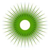 Абстрактная форма с круговыми линиями для концепций природы Радиальный l иллюстрация вектора