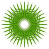 Абстрактная форма с круговыми линиями для концепций природы Радиальный l бесплатная иллюстрация