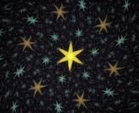 Абстрактная фракталь на темной предпосылке Стоковое Изображение