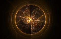абстрактная фракталь пламени шарика Стоковая Фотография