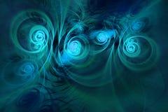 абстрактная фракталь предпосылки Текстурированное изображение в multi цветах Стоковое Изображение