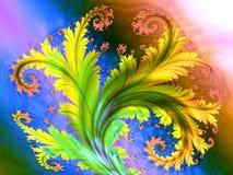абстрактная фракталь предпосылки Стоковые Фото