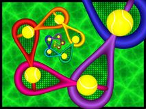 Абстрактная фракталь тенниса иллюстрация штока