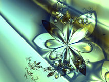 абстрактная фракталь цветка предпосылки Стоковые Фотографии RF